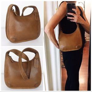 Coach Vintage Tan Leather Ergo Shoulder Bag